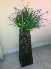 Плетеные коричневые вазы
