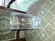 Стеклянная ваза прямоугольная