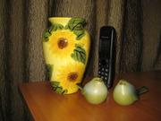 Керамическая ваза  Подсолнухи.
